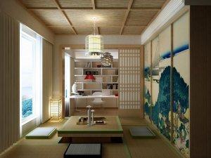 轻盈色彩展现 日式风格吊顶装修效果图