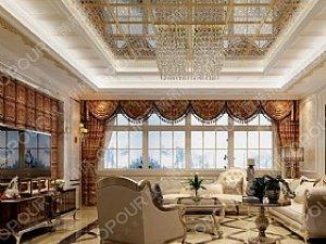 客厅吊顶装修效果图 欧普吊顶装修图片