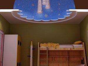 简单大方儿童房吊顶装修效果图