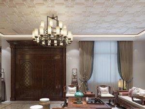 友邦吊顶艾格玛系列图片 中式风格客厅吊顶装修效果图