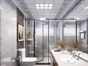 明顶顶墙高端定制集成吊顶 工业风浴室吊顶效果图