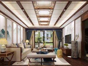 海创新中式风格系列集成吊顶装修效果图 古香古色