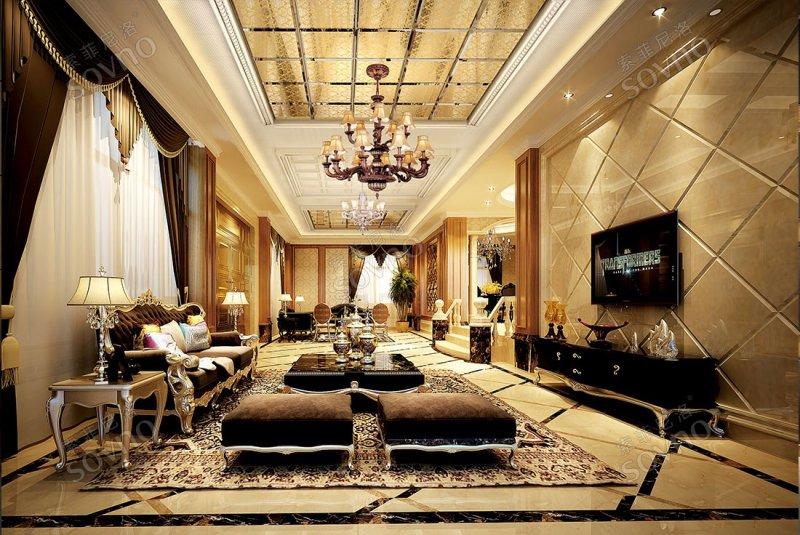 索菲尼洛复式吊顶客厅装修效果图