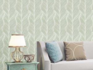 沐丝无缝墙布图片 美式素色效果图