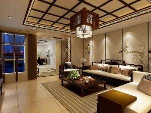 锦尚天和集成吊顶中式风格-客餐厅-客厅装修效果图