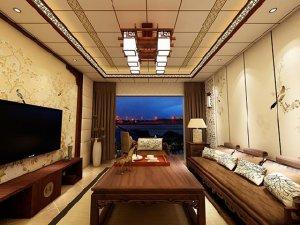 锦尚天和集成吊顶新中式风格-客餐厅-客厅装修效果图