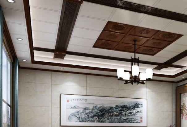法狮龙客厅吊顶中式风格装修效果图