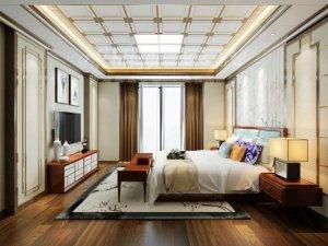 明顶顶墙高端定制中式风格装修效果图