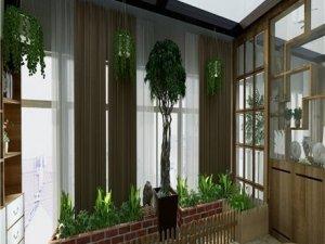 易富门窗阻燃布艺窗帘产品及装修效果图