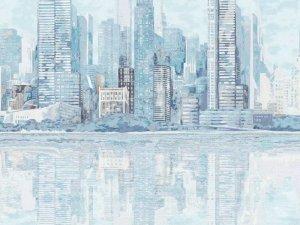 雅菲壁布墙布《迷情都市》 美式风格墙布效果图