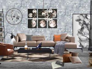 沁绣墙布加盟产品  工业风墙布效果图