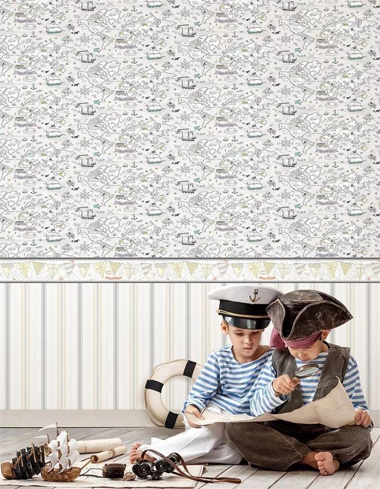 凱雅特軟裝圖片《涂鴉王國》 兒童墻紙效果圖