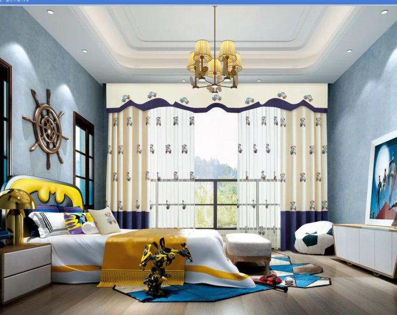 圣宇壁纸壁布窗帘米奇丽 卡通窗帘效果图