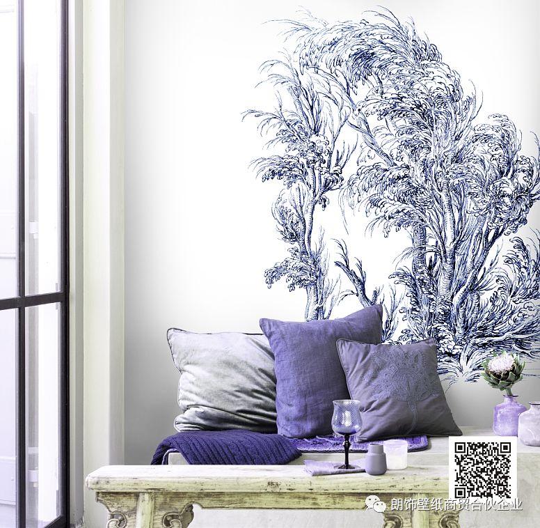 朗饰壁纸Gorgeous2021绮罗 简约风格墙布效果图