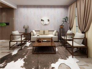 蒙特罗墙布图片 新中式风格墙布效果图