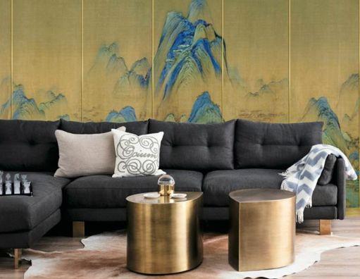 瑞宝壁纸 中式风格墙板装修效果图