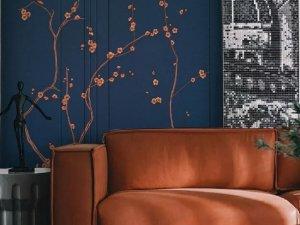 领绣刺绣《刺绣墙画9》新中式风格墙布装修效果图