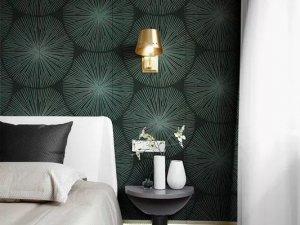 雅绣刺绣墙布《时光》轻奢风格墙布装修效果图