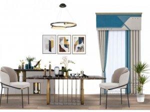 法丽雅墙布加盟产品 欧式风格窗帘装修效果图