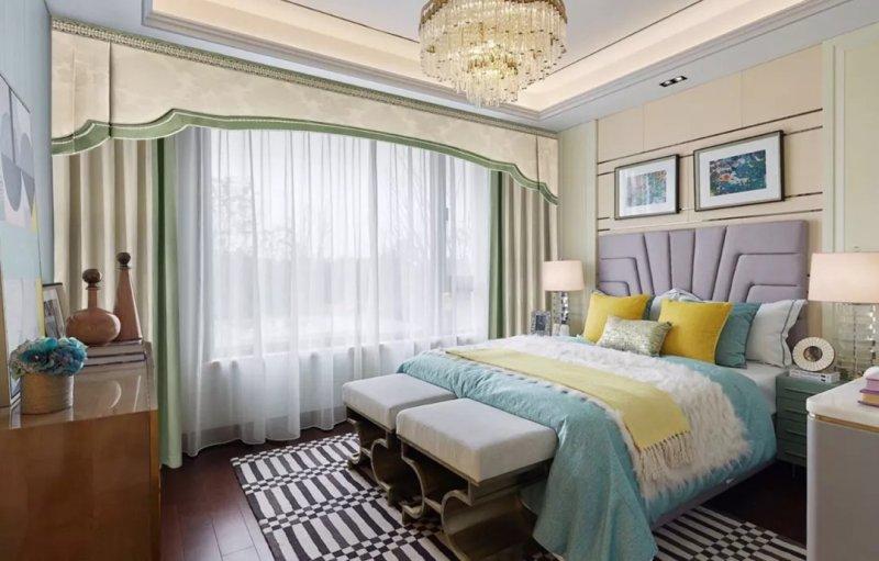 梦斓莎窗帘加盟产品 现代风格窗帘装修效果图