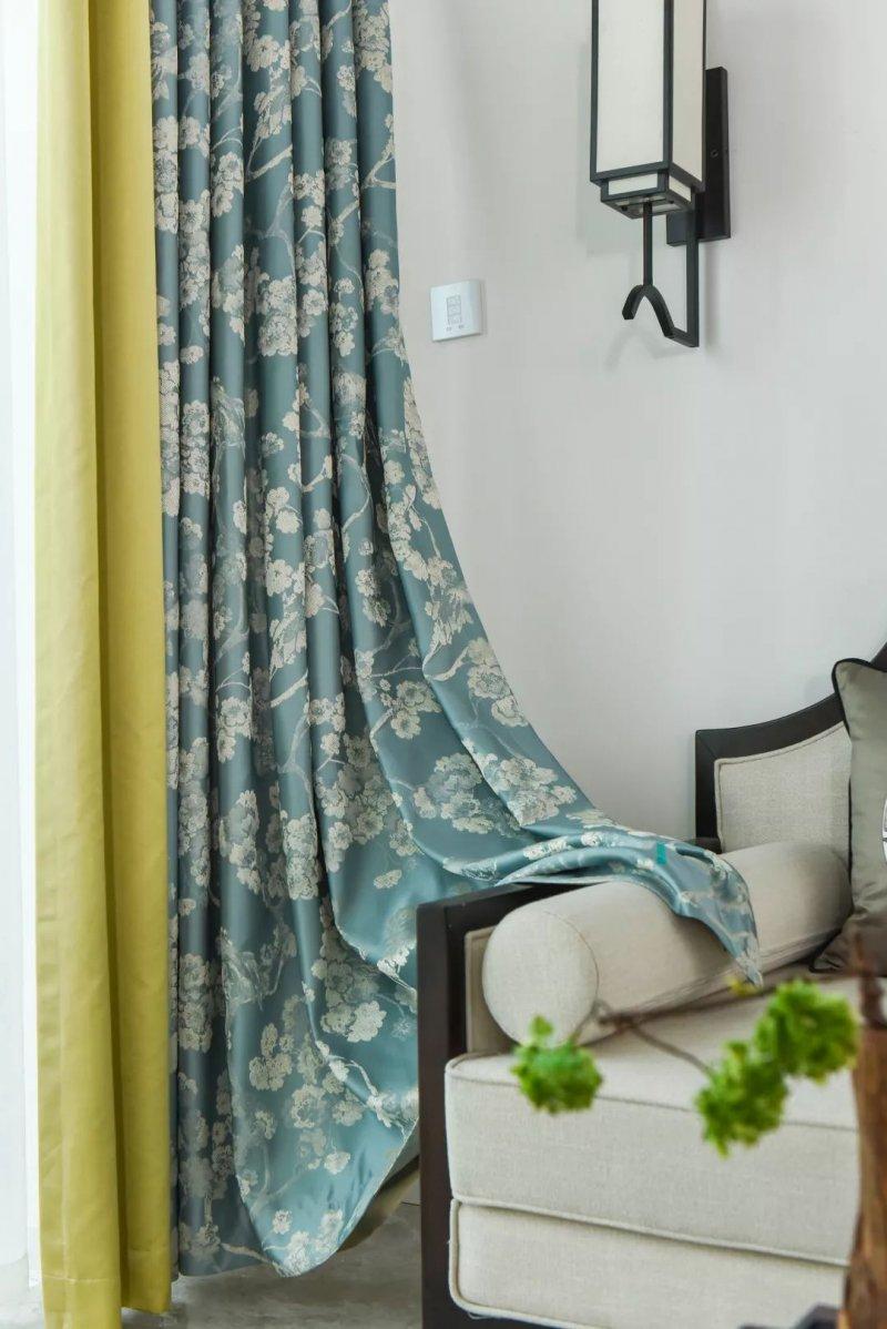 欧仕莱墙布《暗香疏影》 新中式风格窗帘装修效果图