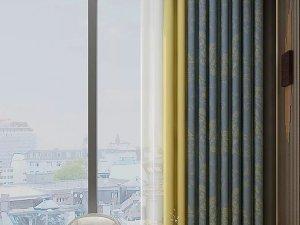 柔然壁纸《皇鹤楼》 新中式风格窗帘装修效果图