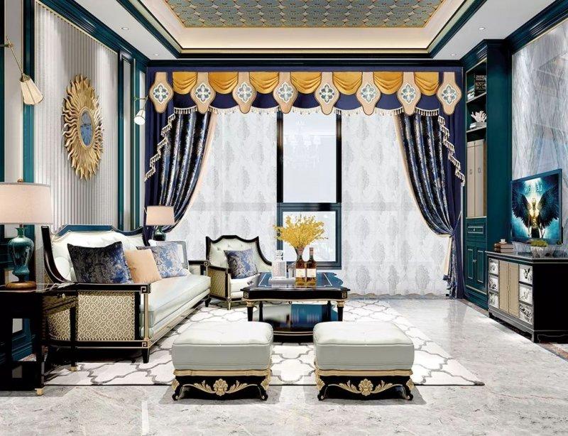 布魯斯特加盟產品 歐式風格窗簾裝修效果圖