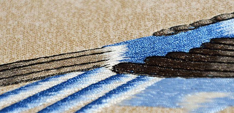 逸绣刺绣墙布图片 新中式风格墙布装修效果图