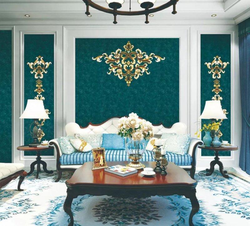 畫壁無縫墻布獨幅系列 新中式風格墻布裝修效果圖