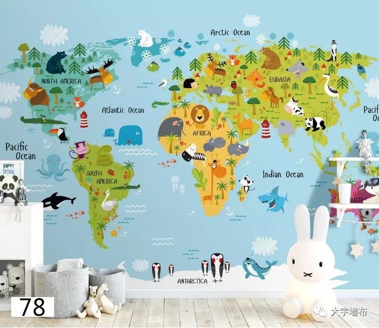 大宇墙布加盟产品 儿童系列墙布装修效果图