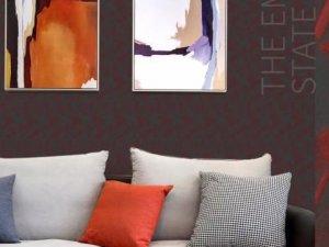 汇明提花墙布《风尚》 欧式风格墙布装修效果图
