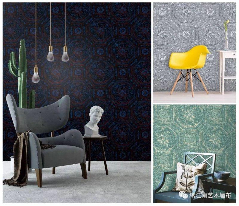 绣江南艺术墙布《X53》 欧式风格墙布装修效果图