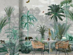 布鲁斯特墙纸《雨林地界 II 》 美式风格墙布装修效果图
