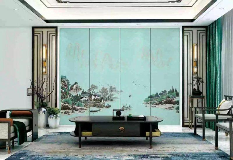 VISA高端定制墙布《缤纷饰界》 现代风格墙布装修效果图