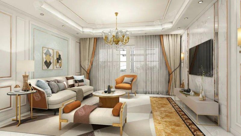 世纪豪门吊顶客厅装修图片 现代简约风格装修效果图