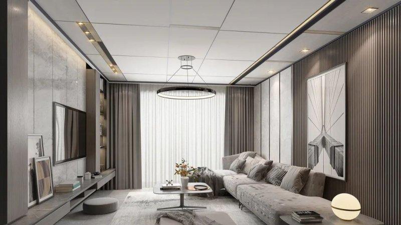 奥华顶墙客厅装修图片 新中式风格装修效果图