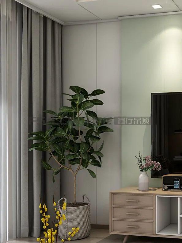 法狮龙客厅吊顶系列图片 北欧轻奢风效果图_2