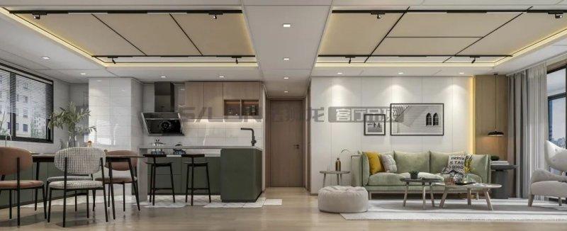 法狮龙客厅吊顶系列图片 北欧轻奢风效果图_9