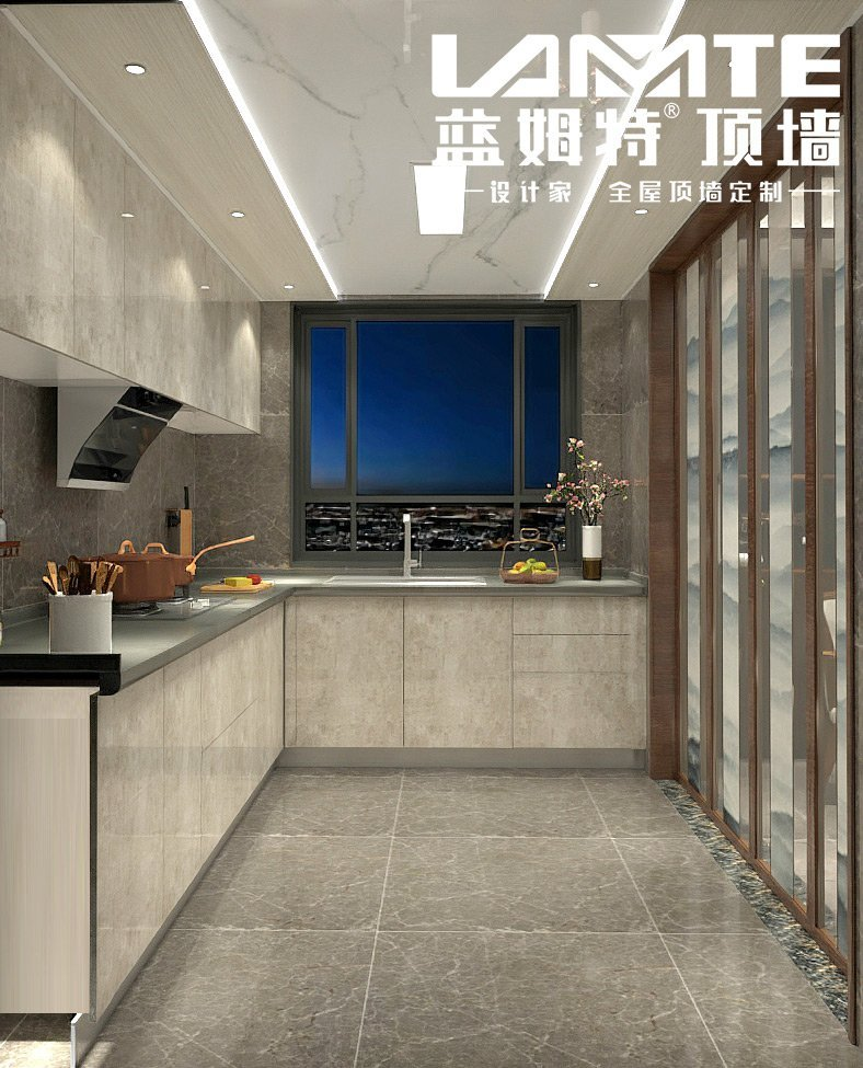 蓝姆特顶墙图片  厨房装修效果图_5