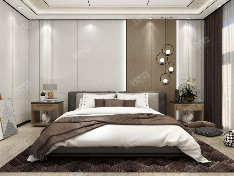 蓝姆特顶墙图片  卧室背景墙装修效果图_7