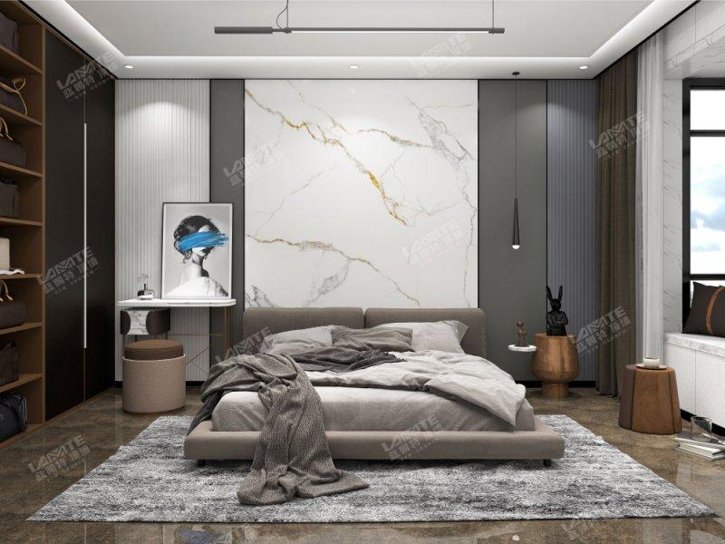 蓝姆特顶墙图片  卧室背景墙装修效果图_3