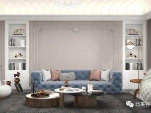 比美特艺术壁材爱丁堡系列图片 法式轻奢风装修效果图